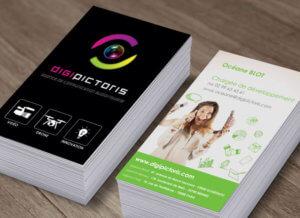 Création de cartes de visite pour Digipictoris par My Little Com' agence de communication à Brest