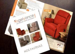 Conception du catalogue Agelyance par My Little Com' agence de communication à Brest