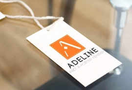 Conception de logo et d'identité graphique pour la boutique Adeline par My Little Com' agence de communication à Brest