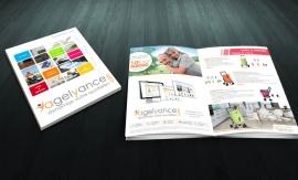 Conception et mise en page de catalogue produits pour Agelyance par My Little Com' agence de communication à Brest