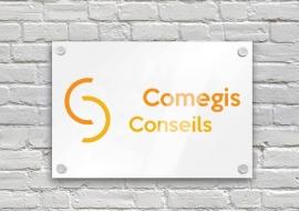Conception de logo et d'identité graphique pour Comegis Conseils par My Little Com' agence de communication à Brest