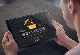 Conception de logo et d'identité graphique pour Wiki Veggie France par My Little Com' agence de communication à Brest
