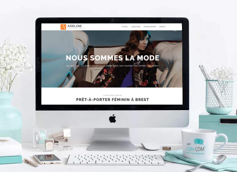 My Little Com' Brest - Création d'un site vitrine pour la boutique Adeline