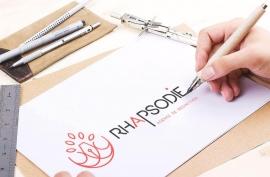 Création d'un logo pour l'agence de rédaction web Rhapsodie - My Little Com', agence de communication à Brest