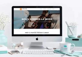 Création du site internet de la boutique de prêt-à-porter féminin Adeline - My Little Com', agence de communication à Brest