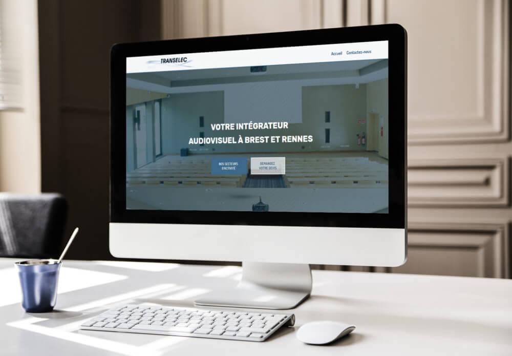 Création du site internet de Transelec - My Little Com', agence de communication à Brest